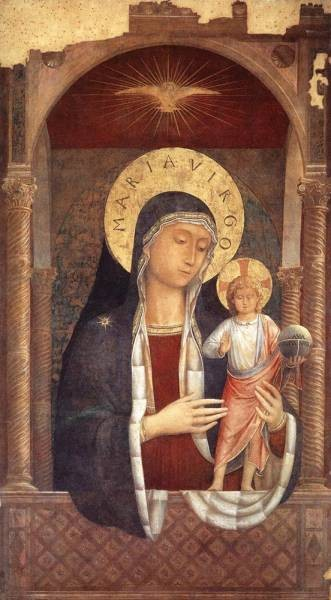 GOZZOLI Benozzo Madonna and Child Giving Blessings